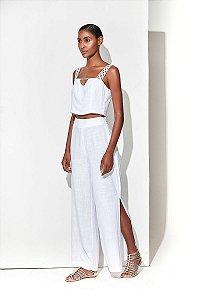 Pantalona Aberta Branco