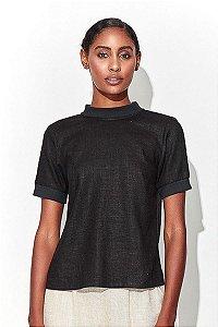 T-shirt Zíper Preta