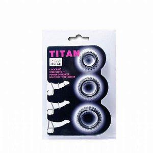 TITAN - Kit com 3 Anéis Penianos de Borracha | Medida Interna: 1,9 cm, 2,4 cm, 2,8 cm - BI-210143
