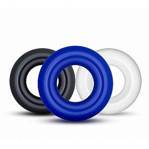 POWER PLUS - Kit de Anéis Penianos Coloridos | Medida Interna: 1,6 cm - 1311