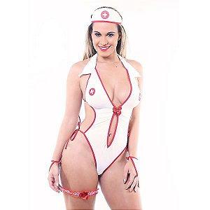 FANTASIA - Enfermeira Body Le Rouge FF109 | Tamanho: U