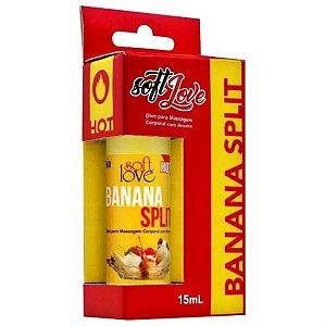 ÓLEO BEIJÁVEL HOT - Para Sexo Oral 15ml | Sabor: Banana Split