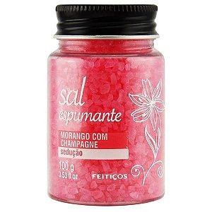SAIS DE BANHO - Sal Espumante | Aroma: Morango Com Champagne | 100g