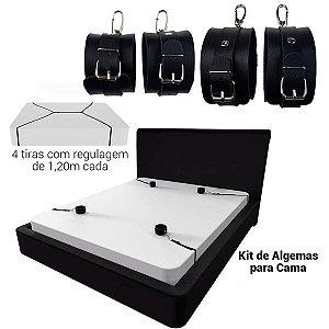 STILLO SEX - Kit Amarras Para Cama - Tamanho:1,20m | NS187