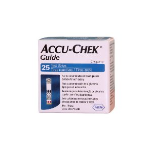ACCU-CHEK GUIDE 25 TIRAS