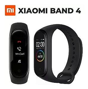 smartband xiaomi mi band 4 pulseira preta