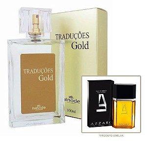 Perfume Masculino Hinode Traduções Gold nº1 (Fragrancia Do Azzaro Pour Homme) 100Ml