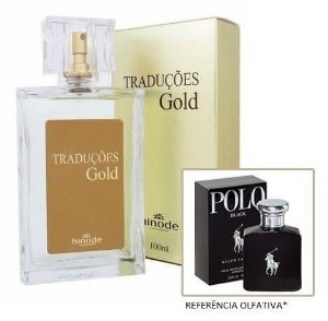 Perfume Masculino Hinode Traduções Gold nº7 (Fragrancia Do Polo Black Ralph Lauren) 100Ml