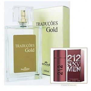 Perfume Masculino Hinode Traduções Gold nº58 (Fragrancia Do 212 Sexy - Carolina Herrera) 100Ml
