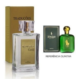 Perfume Masculino Hinode Traduções Gold nº3 (Fragrancia Do Polo Green - Rauph Lauren) 100Ml