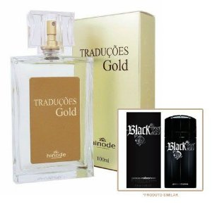 Perfume Masculino Hinode Traduções Gold nº53 (Fragrancia Do Black XS - Paco Rabanne) 100Ml
