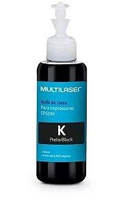 Refil de tinta T664 Multilaser compatível com Epson - Preto
