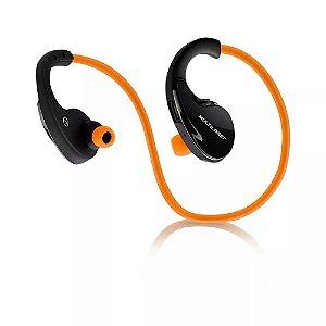 Fone de ouvido Arco Sport Bluetooth Laranja Multilaser - PH185