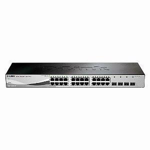 Switch 24 portas 10/100/1000 Gerenciável Gigabit D-Link DES-1210-28