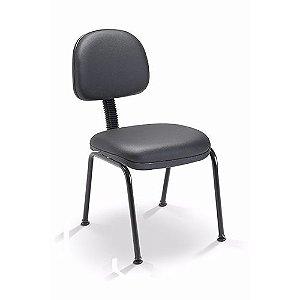 Cadeira Fixa 4 pés Secretária Plaxmetal