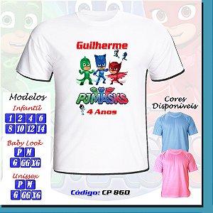 01 Camiseta Adulto ou Infantil Personalizada PJ Masks