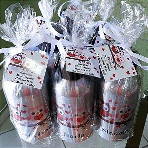 Kit com 10 Squeezes Personalizada 500 ml Dia dos Professores