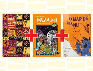 COMBO 4: Pra Começar (37,00) + Kuami (45,00) + O mar de Manu (20,00) + FRETE GRÁTIS!