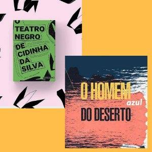 Combo 12 - O homem azul do deserto (48,00) + O teatro negro de Cidinha da Silva (40,00)