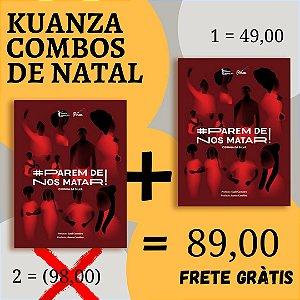 """Combo de Natal 2 exemplares de """"# Parem de nos matar!"""" por 89,00"""