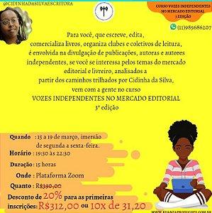 Curso Vozes Independentes no Mercado Editorial 3a edição