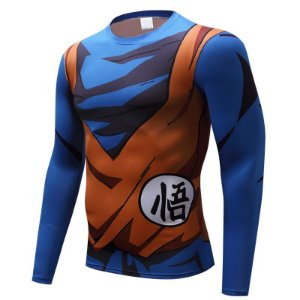 e907633d564cd Kit 2 Camisetas Dragon Ball Z Vegeta E Goku 3D Compressão Manga Comprida  zoom