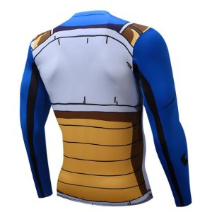 66561372fd0b2 Camiseta Dragon Ball Z Vegeta Manga Longa 3D Compressão zoom