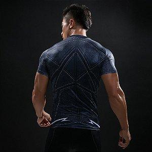 d750e90b34ec9 Camiseta Flash 3D Preta Manga Curta Compressão Fitness Esportes zoom