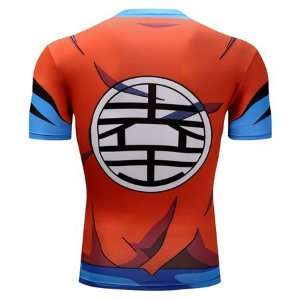 5c48e9b8ce793 Camiseta Goku Dragon Ball Z Super Laranja 3D Compressão Masculino Top -  Manga Curta zoom