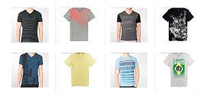 Kit Sortido 10 Camisetas Calvin Klein Masculinas - Tamanhos Variados