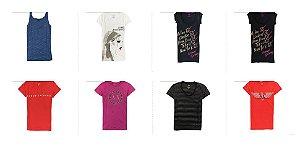 Kit Sortido 20 Camisetas Armani Exchange Femininas - Tamanhos Variados