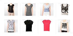 Kit Sortido 20 Camisetas Calvin Klein Femininas - Tamanhos Variados