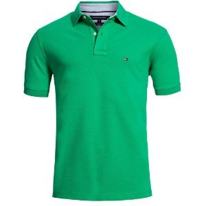Polo Tommy Hilfiger Masculina Custom Fit - Green