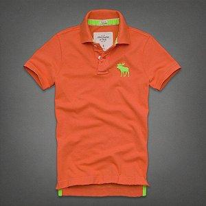 Polo Abercrombie & Fitch Masculina Winch Pond - Orange