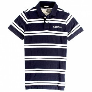 Polo Abercrombie & Fitch Masculina Winch Pond - Navy Stripe