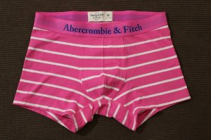 Cueca Abercrombie & Fitch Masculina Hopkins Trail Boxer - Pink Stripes
