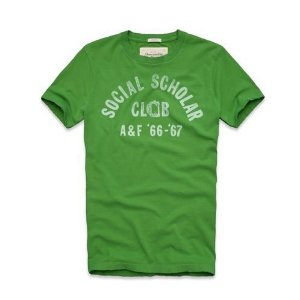 Camiseta Abercrombie & Fitch Masculina Gilligan Mountain Tee - Green