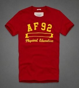 Camiseta Abercrombie & Fitch Masculina Jay Range Tee - Red