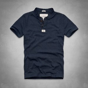 Camiseta Abercrombie & Fitch Masculina Connery Pond Henley - Navy