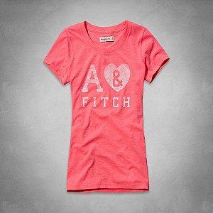 Camiseta Abercrombie & Fitch Feminina Marlie Tee - Coral