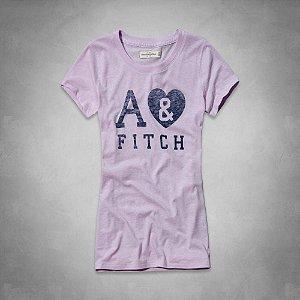 Camiseta Abercrombie & Fitch Feminina Marlie Tee - Lilac