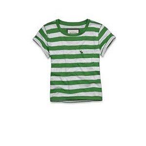 Camiseta Abercrombie & Fitch Feminina Lara - Green Stripe