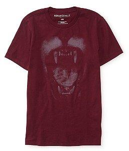 Camiseta Aéropostale Masculina Roar Graphic - Auburn