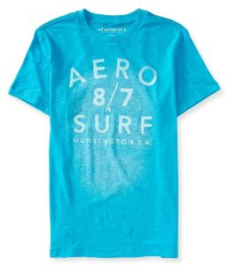 Camiseta Aéropostale Masculina Surf 87 - Mexicali Blue