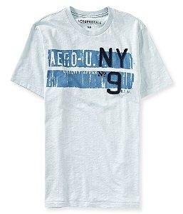 Camiseta Aéropostale Masculina NY9 Graphic Tee - Endless Sea