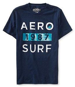 Camiseta Aéropostale Masculina Aero 1987 Surf - Navy