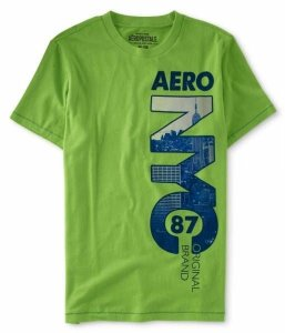 Camiseta Aéropostale Masculina Vertical NYC - Lime Green