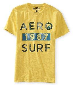 Camiseta Aéropostale Masculina Aero 1987 Surf - Yellow