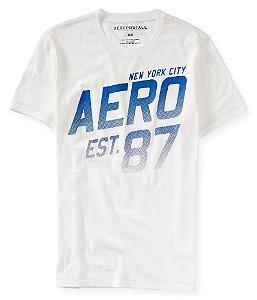 Camiseta Aéropostale Masculina NY City Est. 87 - Bleach
