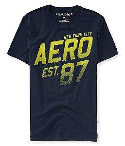 Camiseta Aéropostale Masculina NY City Est. 87 - Deep Navy